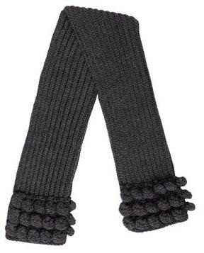 Miu Miu Grey Knit Scarf