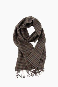 Barbour Olive Houghton Check Scarf