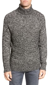 French Connection Men's Marled Cable Knit Turtleneck Sweater