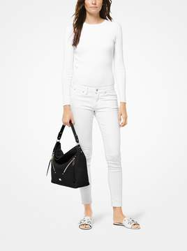 MICHAEL Michael Kors Evie Large Pebbled Leather Shoulder Bag