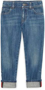 Children's denim pant with Web