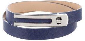 Diane von Furstenberg Leather Turn-Lock Belt