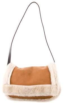 M Missoni Shearling Flap Bag