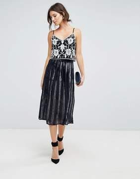 Coast Sequin Paneled Skirt