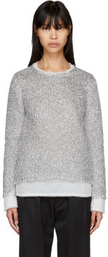 Comme des Garcons Silver Metallic Layered Sweater