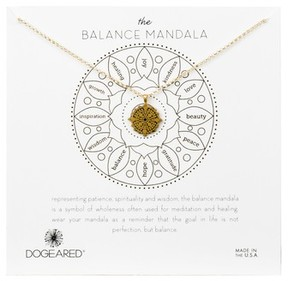 Dogeared Women's Balance Mandala Necklace