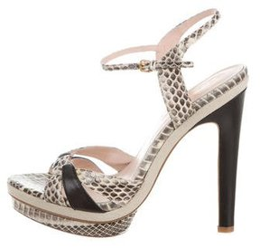 Elie Tahari Snakeskin Platform Sandals w/ Tags