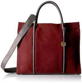Skagen Katryn Recessed Zip Satchel Nubuck Leather