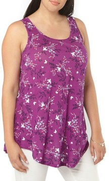 Evans Plus Size Women's Bird Print Tank