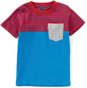 Levi's Little Boys 2T-7 Short-Sleeve Striped/Blocked Sunset Tee