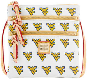 Dooney & Bourke West Virginia Mountaineers Triple-Zip Crossbody Bag - WHITE - STYLE
