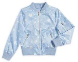 Urban Republic Girl's Star Print Varsity Jacket