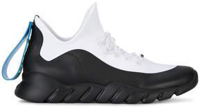 Fendi White Hi Top Knitted Sneakers