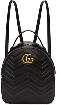 Gucci Black GG Marmont Backpack - BLACK - STYLE