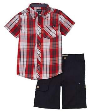 Lucky Brand Boys' 2pc Shirt & Short Set.
