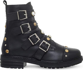 Carvela Ladies Black Swish Stud-Embellished Leather Ankle Boots