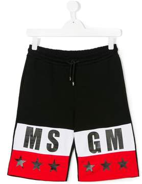 MSGM logo shorts