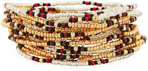 Neiman Marcus On the Bead Beaded Bracelet, Golden