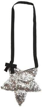 Simonetta Sequins Embroidered Jersey Shoulder Bag