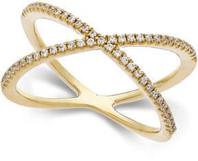 Arabella Swarovski Zirconia X-Ring in 14k Gold