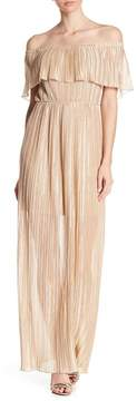 Dress the Population Athena Off-the-Shoulder Pleated Dress