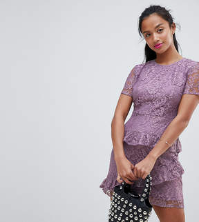 Fashion Union Petite Dress In Lace