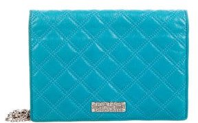 Marc Jacobs Quilted Leather Clutch - BLUE - STYLE