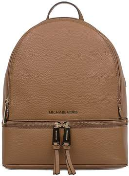 Michael Kors Caramel Rhea Hammered Leather Backpack - BROWN - STYLE