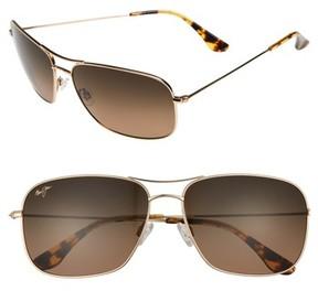 Maui Jim Men's Breezeway 63Mm Polarizedplus2 Sunglasses - Gold