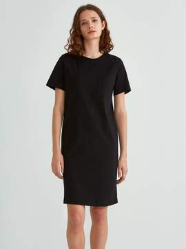Frank and Oak Heavy Cotton Short Sleeve Tee Dress in True Black