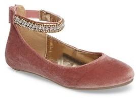 Steve Madden Girl's Zilerp Embellished Ankle Strap Flat