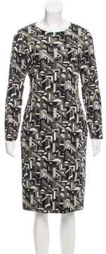 Christian Siriano Metallic-Accented Patterned Dress