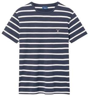 Gant Men's White/blue Cotton T-shirt.