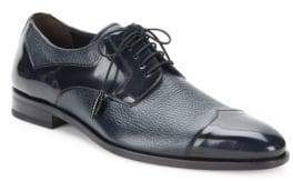 Mezlan Pebbled & Patent Leather Oxfords
