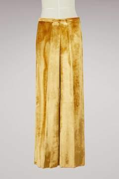 Forte Forte Silk and velvet pants