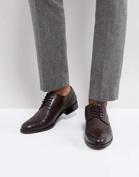Dune Wing Tip Shoes Brown Leather