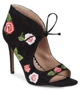 Betsey Johnson Caroline Embroidered Textile Booties