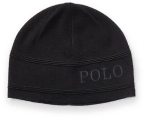 Polo Ralph Lauren Merino Wool Hat Polo Black One Size