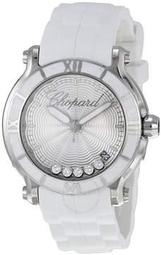 Chopard Happy Sport Silver Dial Floating Diamond Ladies Watch