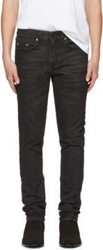 Saint Laurent Black Star Low-Waisted Skinny Jeans