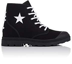 Givenchy Men's Cotton Drill Lace-Up Boots