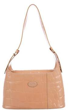 Tod's Embossed Leather Shoulder Bag