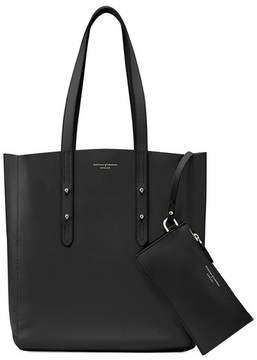 Aspinal of London Essential Tote In Smooth Black