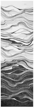 St. John | Brush Stroke Print Silk Georgette Scarf