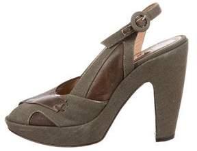 Marni Bicolor Slingback Sandals