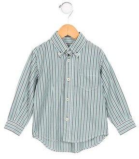 Il Gufo Boys' Striped Button-Up Shirt