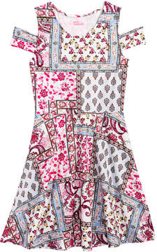 Epic Threads Patchwork Cold-Shoulder Dress, Big Girls (7-16), Created for Macy's