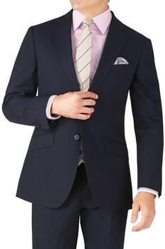 Charles Tyrwhitt Navy Stripe Slim Fit Crepe Business Suit Wool Jacket Size 38