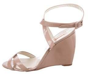 Rupert Sanderson Patent Leather Wedge Sandals