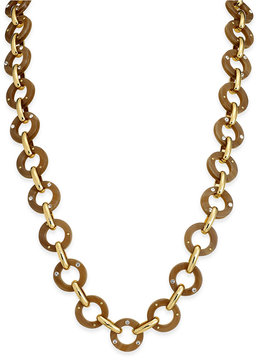 kate spade new york Out of Her Shell Gold-Tone Tortoiseshell-Look Long Necklace
